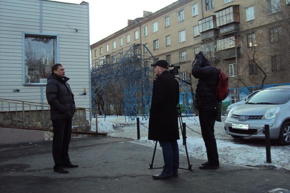 Съёмка сюжета на ОРТ Климова Владимира Челябинск